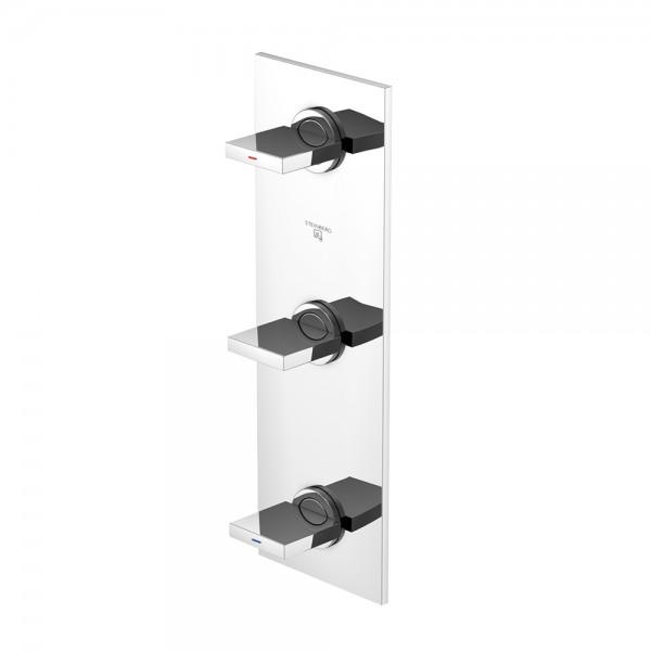 """Steinberg Серия 160 Смеситель для душа на 3 отверстия с 90° керамическими вентилями, с 2-х ходовым переключателем (по середине), в комплекте со скрытым корпусом 1/2"""", хром 160 2172"""