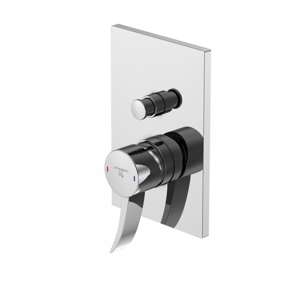 Steinberg Серия 180 Наружная часть для однорычажного встраиваемого смесителя для ванны/душа с переключателем (180 2103)