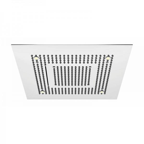 """Steinberg Дождевая панель с LED подсветкой """"Relax Rain"""", 600 x 600мм, 3 типа струи, потолочный монтаж, с системой """"изи-клин"""", хромированная нерж. сталь. 390 6620"""