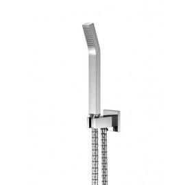"""Steinberg Серия 120 Душевой набор с интегрир. подсоединением шланга 1/2"""", с настенным держателем, с металлическим шлангом 1500мм, с защитой от обратного потока, хром 120 1670"""