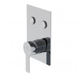 Настенный смеситель для душа Steinberg 390 с переключением на 2 режима, в комплекте со скрытой частью (390 2221)
