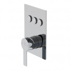 Настенный смеситель для душа Steinberg 390 с переключением на 3 режима, в комплекте со скрытой частью (390 2231)