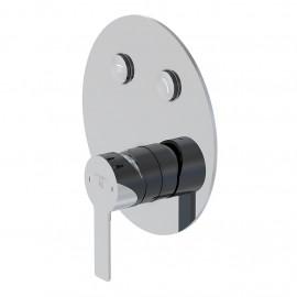 Настенный смеситель для душа Steinberg 390 с переключением на 2 режима, в комплекте со скрытой частью (390 2321)