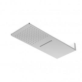 Верхний душ из стены 600х250 мм с каскадом, Easy Clean, полированная нержавеющая сталь 390 5662