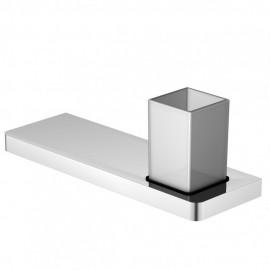 Steinberg Серия 420 Полочка с стаканчиком 300мм, белое сатин. стекло, хром 420 2011