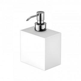Steinberg Серия 460 Дозатор для жидкого мыла 104 х 70 х 105мм, белое сатин. стекло 460 8101