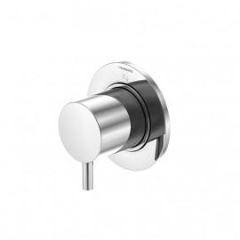 Steinberg Серия 100 3-х ходовое переключение ,встраиваемое, 1x вход / 3 x отвода, в комплекте со скрытым корпусом, c уплотнительной манжетой Kerdi, c защитнoй крышкoй 80мм, хром 100 4372