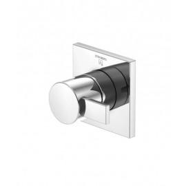 """Steinberg Серия 120 Запорный вентиль 1/2"""" для горячей воды с 90 ° керамическим вентилем, в комплекте со скрытым корпусом, c уплотнительной манжетой Kerdi, хром 120 4510"""