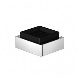 Steinberg Серия 460 Мыльница настенная, 105 x 105 x 45мм, чёрное сатин. стекло,из латуни, хром 460 2202