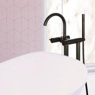 Напольный смеситель для ванны Steinberg 100 Matt Black (100 1162 S)