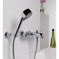 Steinberg Серия 100 Душевой набор c ручным душем 3-х функциональный, с настенным держателем, с металлическим шлангом 1500мм, 100 1626