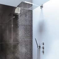 """Steinberg Серия 160 Запорный вентиль 1/2"""" для горячей воды с 90 ° керамическим вентилем, в комплекте со скрытым корпусом, c уплотнительной манжетой Kerdi, хром 160 4510"""