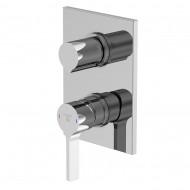 Смеситель для ванны/душа Steinberg 230 встраиваемый с переключателем на 2 потребителя, хром 230 2222
