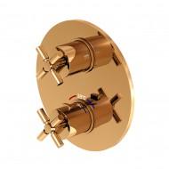 Steinberg Серия 250 Rose Gold Наружная часть к встраиваемому термостату, с 2-х ходовым переключением (250 4133 RG)