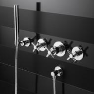 """Steinberg Серия 250 Запорный вентиль 1/2"""" для горячей воды с 90 ° керамическим вентилем, в комплекте со скрытым корпусом, c уплотнительной манжетой Kerdi, хром 250 4510"""