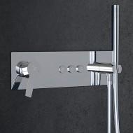 Настенный смеситель для душа Steinberg 390 с переключением на 3 режима, в комплекте со скрытой частью и ручным душем (390 2232)