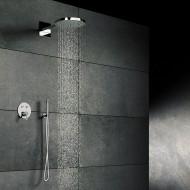 Верхний душ из стены D-300 550x120 мм с Easy Clean, полированная нержавеющая сталь 390 5551