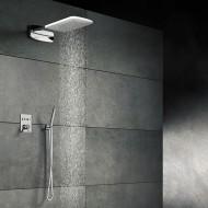 Верхний душ из стены 628х250 мм с каскадом, Easy Clean, полированная нержавеющая сталь 390 5642