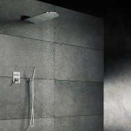 Верхний душ из стены 600х250 мм с каскадом, Easy Clean, полированная нержавеющая сталь 390 5651