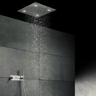 """Steinberg Дождеваяа панель с LED подсветкой """"Relax Rain"""", 600 x 600мм, 3 типа струи, потолочный монтаж, с системой """"изи-клин"""", хромированная нерж. сталь. 390 6620"""