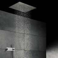 Верхний душ потолочный 800х600 мм с 3-мя режимами, Easy Clean, расход воды 20 л/мин, полированная нержавеющая сталь 390 6831