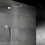 Верхний душ с 2 режимами Steinberg 390 405х255 мм с Easy Clean, с настенными держателем, хром 390 7722