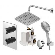 Комплект термостата скрытого монтажа Steinberg 120 с верхним и ручным душем