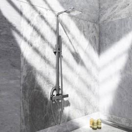 Steinberg Серия 160 Душевой гарнитур с термостатом с верхним душем и ручным душем, с регулировкой по высоте_(при монтажa), хром 160 2720