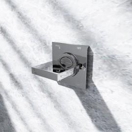 Steinberg Серия 160 3-х ходовое переключение, встраиваемое, 1x вход / 3 x отвода, в комплекте со скрытым корпусом, c уплотнительной манжетой Kerdi, с защитнoй крышкoй 55 x 55мм, хром 160 4362