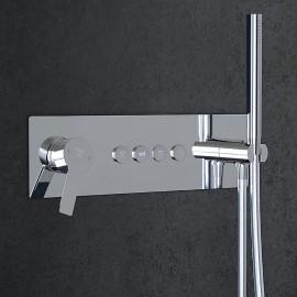 Настенный смеситель для душа Steinberg 390 с переключением на 4 режима, в комплекте со скрытой частью (390 2242)