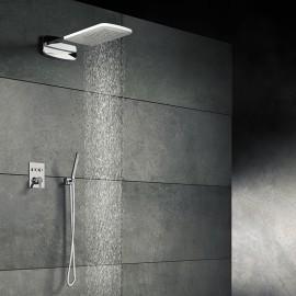 Верхний душ из стены 600х250 мм с каскадом, Easy Clean, полированная нержавеющая сталь 390 5652