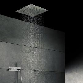 """Steinberg Дождевая панель""""Relax Rain"""", 600 x 600мм, с 3-мя различными струями, хромированная нерж. сталь 390 6610"""