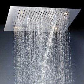 Steinberg Верхний душ 800*800 мм, 8 светодиодных ламп (2 режима струи ливень + каскад), полир. нерж. сталь 390 6680