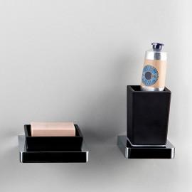 Steinberg Серия 420 Стаканчик с держателем, чёрное сатин. стекло, хром 420 2002