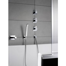 """Steinberg Серия 120 Запорный вентиль 1/2"""" для холодной воды с 90 ° керамическим вентилем, в комплекте со скрытым корпусом, c уплотнительной манжетой Kerdi, хром 120 4500"""