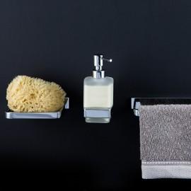 Steinberg Серия 450 Держатель с дозатором для жидкого мыла,из латуни , хром 450 8000