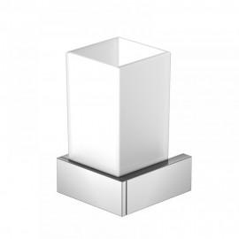 Steinberg Серия 460 Стаканчик с держателем 70 х 70 х 120мм, из латуни, белое сатин. стекло, хром 460 2001
