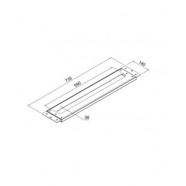 Панель для монтажа всех смесителей на раковине или на краю ванны