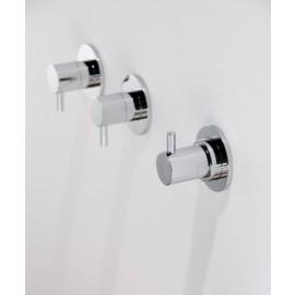 """Steinberg Серия 100 Запорный вентиль, 1/ 2"""", для холодной воды с 90 ° керамическим вентилем, в комплекте со скрытым корпусом, c уплотнительной манжетой Kerdi, хром 100 4500"""
