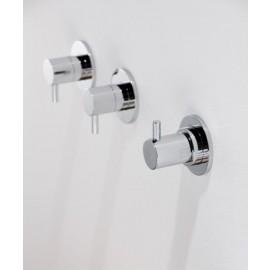 """Steinberg Серия 100 Запорный вентиль, 1/2"""", для горячей воды, с 90 ° керамическим вентилем, в комплекте со скрытым корпусом, c уплотнительной манжетой Kerdi, хром 100 4510"""