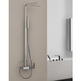Steinberg Серия 160 Душевой гарнитур с однорычажным смесителем для душа, с верхним душем и ручным душем, с регулировкой по высоте (при монтажa), хром 160 2761